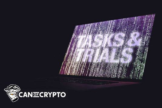 earn bitcoin with tasks & trials